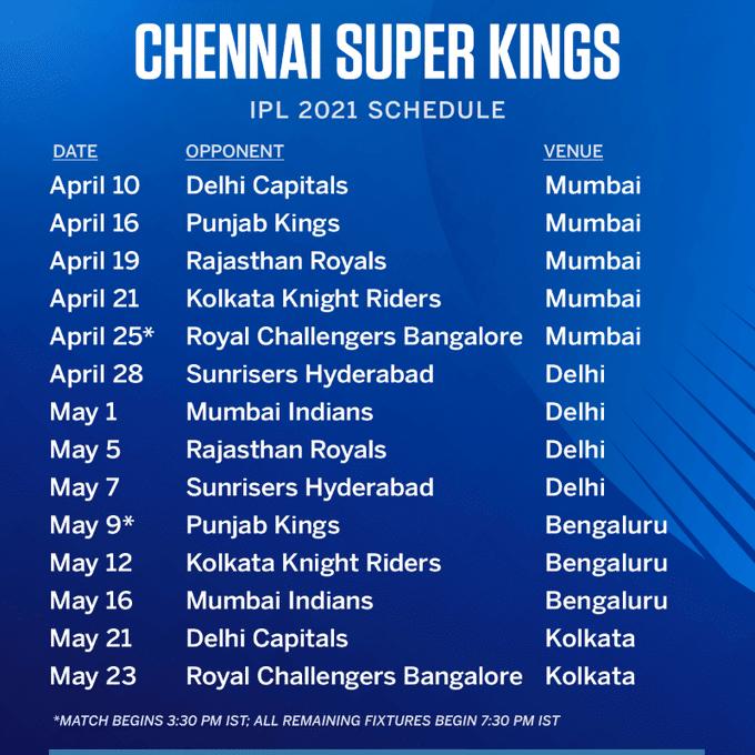 List-of-IPL-2021-Chennai-Super-Kings-Matches