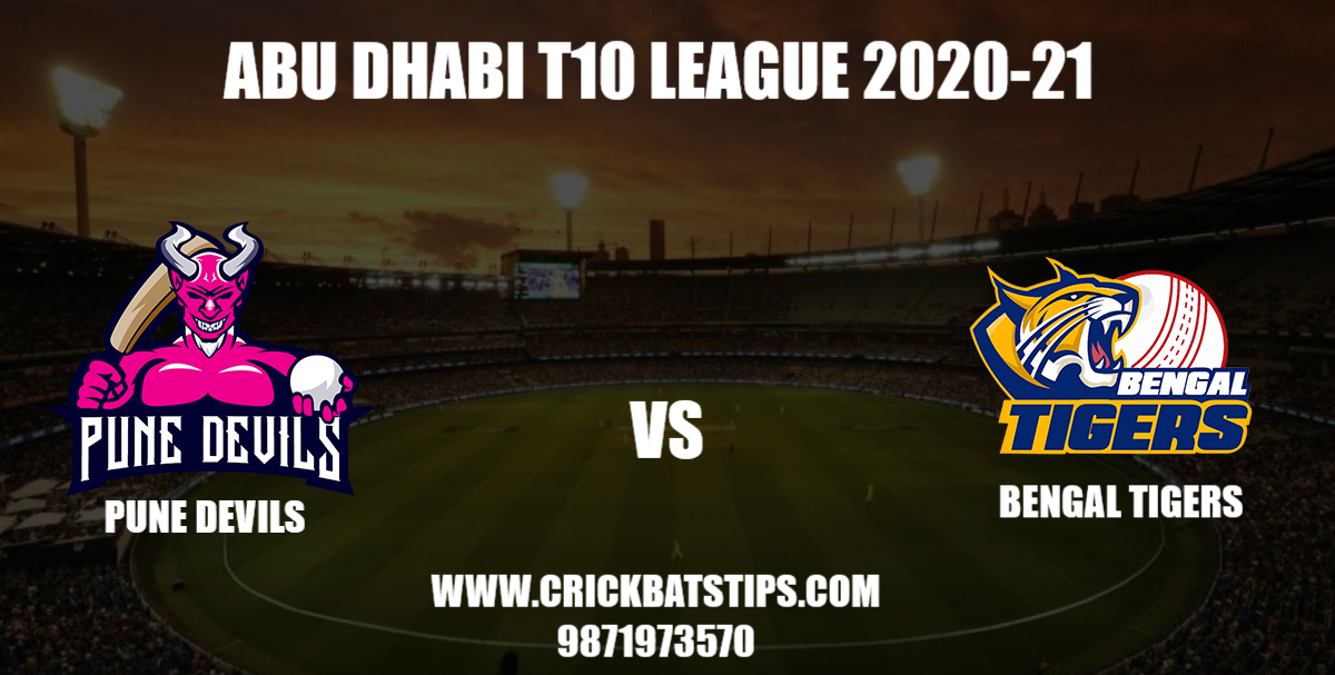Pune Devils vs Bengal Tigers Abu Dhabi t10 league 2020-21