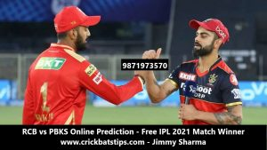 RCB vs PBKS Online Prediction - Free IPL 2021 Match Winner